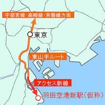 国土交通省,羽田空港アクセス線(仮称)の鉄道事業を認可