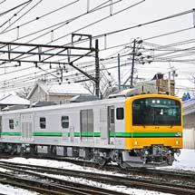GV-E197系が高崎車両センターへ回送される