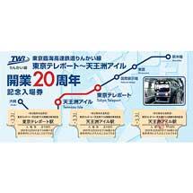 りんかい線「東京テレポート~天王洲アイル開業20周年記念入場券」発売