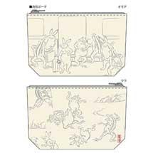 東急,「のるるん×鳥獣戯画(手ぬぐい・ティッシュケース・ポーチ)」など発売