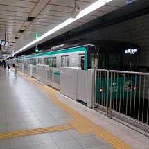 神戸市営地下鉄,西神・山手線新長田駅1・2番線でホームドア設置工事に着手