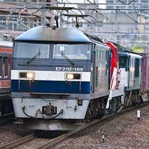 2078列車にDD200-1とEF64 1008が連結される