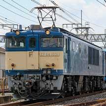 E131系500番台G-02編成が配給輸送される