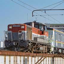 東京メトロ17000系17187編成が甲種輸送される